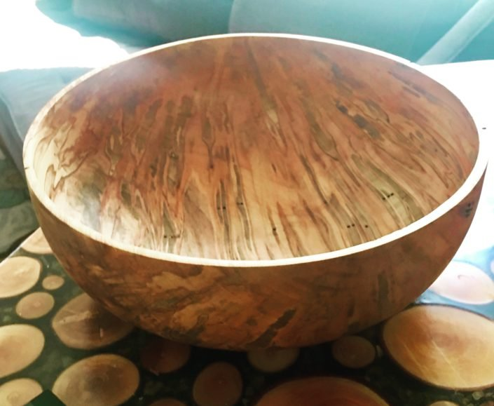 Hand carved bowl made from woodwares from Town Branch Tree Experts.